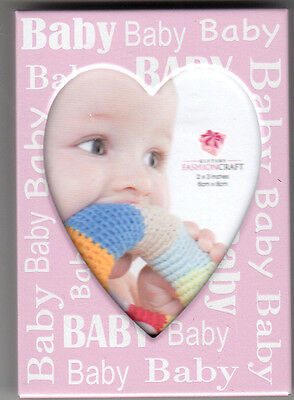 Baby Picture Frame , Girl, Pink, By Fashion Craft, New