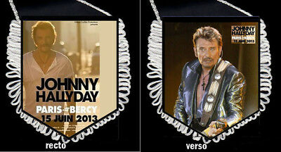 fanion collector JOHNNY HALLYDAY LES ANNEES 2010