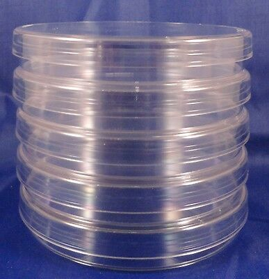 5, 100mm x 15mm Sterile Plastic Petri Dishes with Lids  - Heavy Duty!!!