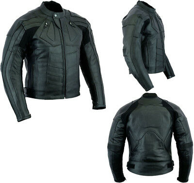 Mens Speed Maxx Premium Quality Ce Armour Motorbike / Motorcycle Leather Jacket