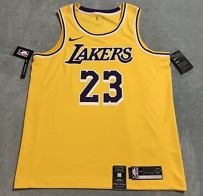 best service a14d5 c0025 NIKE LEBRON JAMES Icon Edition Swingman Jersey Mens sz L 48 Amarillo AA7099  741