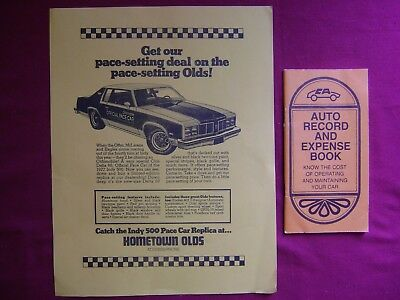 2--1977 OLDS Delta 88 Official PACE CAR of the 1977 INDY 500 / AUTO Record/BOOK