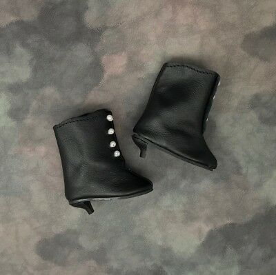 LEATHER Victorian Style Button-up BOOTS for Antique or Repro DOLL