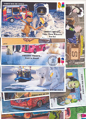 Jvc Cachets - 2018 Frozen Treats Issue First Day Cover Fdc Set Of 10 Very L.e.