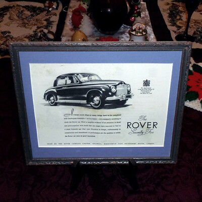 ART VART-007 Car Ad The Rover - Illustrated London News Christmas Number 1952
