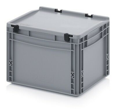 Euro Containers 40x30x28, 5 with Lid Stacking Lagerbox Stapelbox 400x300x285