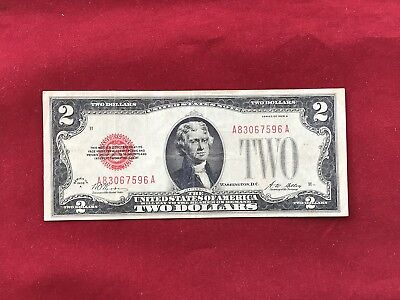 FR-1502  1928 A Series $2 Red Seal US Legal Tender Note *Very Fine*