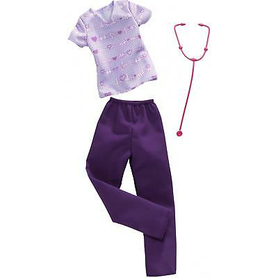 New 2018~2019 Barbie Careers Doll  Nurse Fashion Pack Clothes