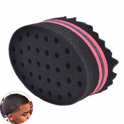 1Pc Double Side Barber Hair Brush Sponge for Afro Locs Twists Curls Waves Braids