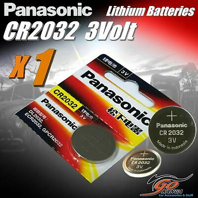 1 x CR2032 Genuine Panasonic 3v Lithium Coin Button Cell Battery 225mAh Aus Stoc