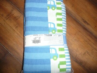 NEW NWT GERBER Baby Boy Flannel Burpcloths 4 Pack blue/stripes/cars