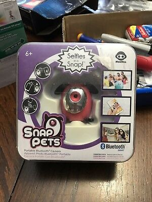 Genuine WowWee Snap Pets Selfies in a Snap Portable Bluetooth Camera New
