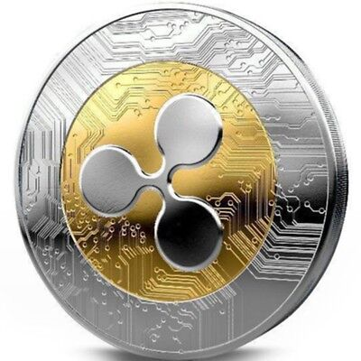 1Pcs Ripple coin XRP CRYPTO Commemorative Collectors Coin with Plastic Box YG