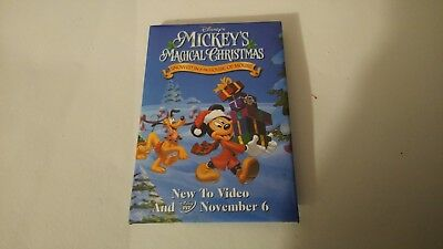 Disney Mickey's Magical Christmas Movie Button Pin Back