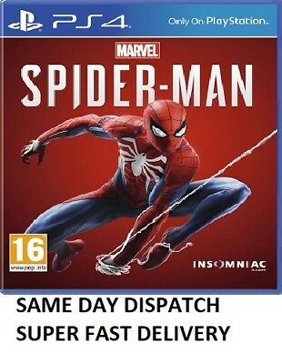 Marvel's Spider-Man PS4 - MINT - SAME DAY DISPATCH - SUPER FAST DELIVERY