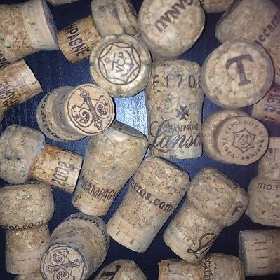 50 used Champagne & Sparkling Wine Corks, All real Cork, No Synthetic
