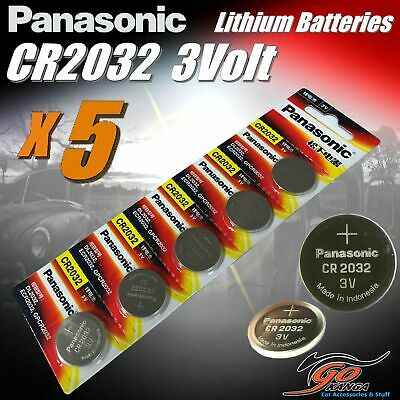 5 x CR2032 Genuine Panasonic 3v Lithium Coin Button Cell Batteries 225mAh Aus St