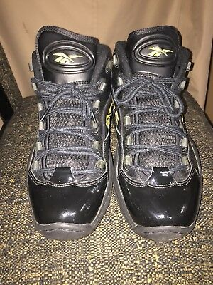 3a98ca06857 Pre-owned Reebok Question Iverson Mid Black Gold 10th Anniversary V48294
