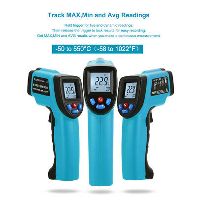 Portable Digital Laser Thermometer Non-Contact IR Infrared Temperature Tester