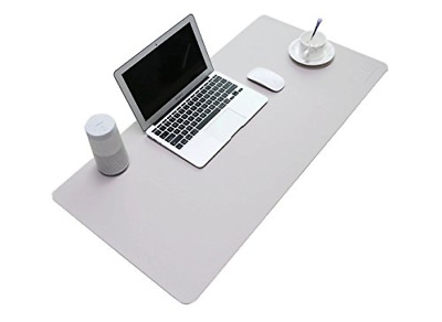 BUBM PU Leather Mouse Pad Mat Waterproof, Perfect Desk Writing Mat for Office -