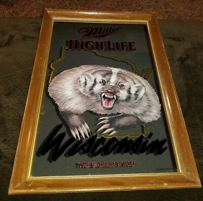 Miller High Life Wisconsin The Badger State Mirror