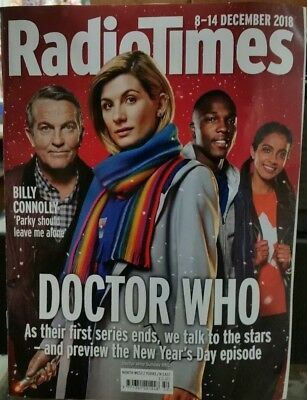 Radio Times magazine Doctor Who Dr 8 December 2018