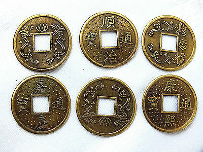 12 CHINESE I CHING COPPER DRAGON LUCKY COIN WEDDING BIRTHDAY CONIARE Münze PHE