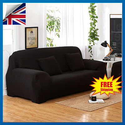 1/2/3/4 Seater Elastic Sofa Covers Slipcover Farbic Settee Stretch Couch Protect