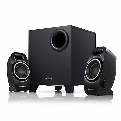 Creative SBS A250 2.1 Channel Speaker Sound System with Bass for PC MAC Desktop