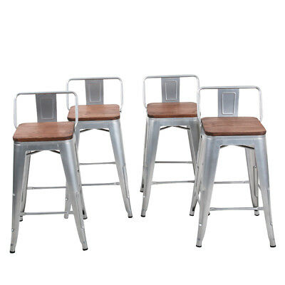 Marvelous Set Of 4 Swivel Bar Stools Counter Height Metal Bar Chairs Alphanode Cool Chair Designs And Ideas Alphanodeonline