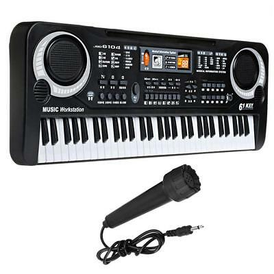 Digital 61 Tasten Einsteiger Keyboard E-Piano Klavier 10 Rhythmen 16 Sounds Mic