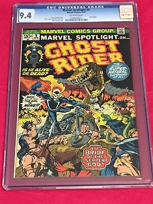 MARVEL SPOTLIGHT CGC 9.4 Ghost Rider Mike Ploog Gary Friedrich Tom Sutton 1973