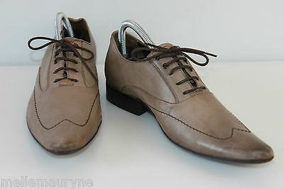 Derby shoes Sharp/ pointed CARNET DE FLIGHT Brown Leather Taupe T 40