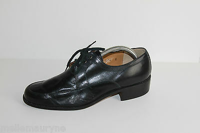 VINTAGE Derby shoes ANDRE All Leather Black T 41 VERY GOOD CONDITION
