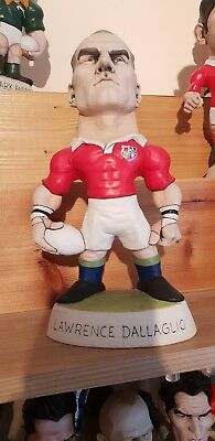 """PLAYER SIGNED Lawerence Dallaglio 9"""" Grogg SOLD OUT British Lions"""