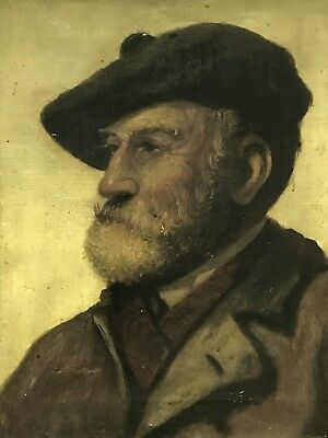 Late 19th/Early 20th Century Antique painting portrait Oil on canvas