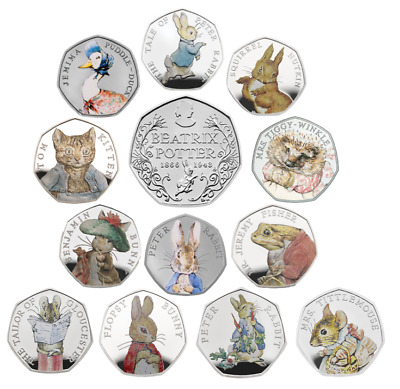 Beatrix Potter 50p Coins Cheap & Cheerful from 99p, 2016, 2017 & 2018
