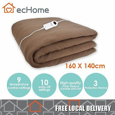 iNNOCARE Polar Fleece Heated Electric Blanket 160 X 140cm Double Size with Timer