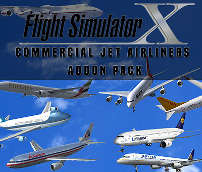 Flight Simulator X FSX Addon Bundle - Commercial Jet Airliners - 20+ NEW PLANES!