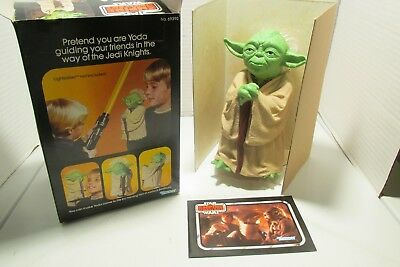 Star Wars Vintage YODA HAND PUPPET BY Kenner W/box 1980