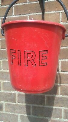 British Army Style 'D' Shaped Red Plastic Fire Bucket for Sand or Water