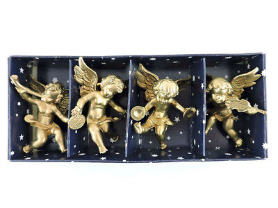 Euromarchi Italy Gold Angel Christmas Ornaments (Set of 4)