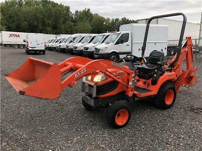 2010 KUBOTA BX25D LOW HOURS!!4WD BACKHOE WHEEL LOADER AG TRACTOR 23HP PTO 2-Spd