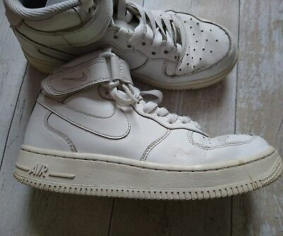 timeless design e43ee 1734a ... reduced nike air force1 trainers size 5 uk white leather boys girls  original 36004 bc838