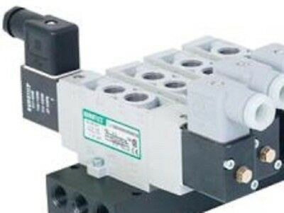 "Numatics L12BA452B017G61 Single Solenoid Pilot Valve, 1/4"" Port Size, 24 VDC"