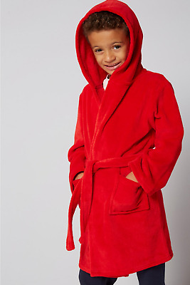 Unisex Supersoft Fleece Christmas Red Robe Dressing Gown