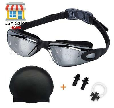 Professional Swim Goggles Anti Fog / Leak UV Protection with Case for Men Women