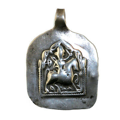 (2339) Antique silver pendent. Rajasthan