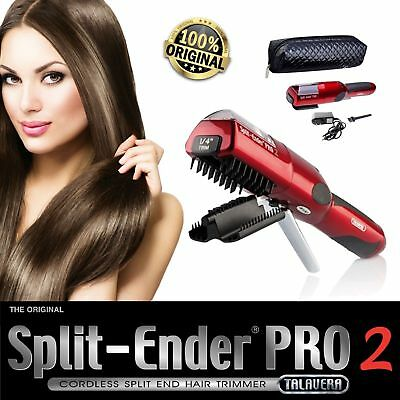 Split Ender PRO 2 cordless split end hair trimmer by Talavera color (RED)
