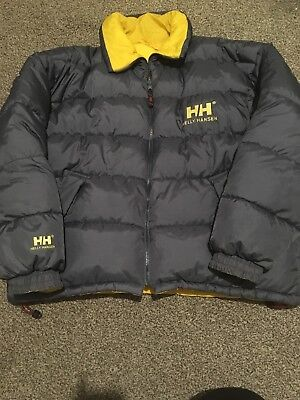 501e05cda7896 VINTAGE HELLY HANSEN Reversible Down Fill Puffer Jacket